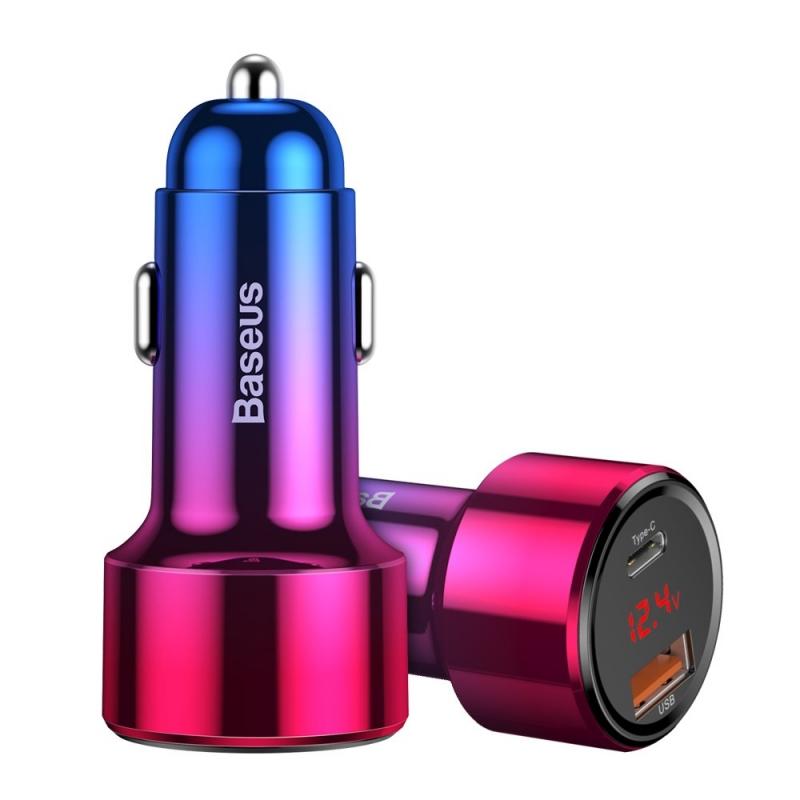 Autolaadija Baseus QC4 USB+USB-C 45W PD