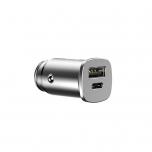 Autolaadija USB+USB-C Baseus QuickCharge 4.0 max 5A