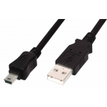 Laadimisjuhe miniUSB-USB 1m must