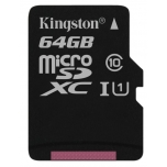Mälukaart 64GB MicroSD Kingston C10 80MB