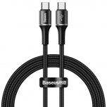 Kaabel USB-C--USB-C PD Baseus HALO 3A 1m