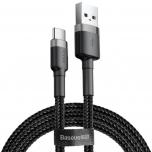 Kaabel USB-C Baseus 3A 0,5m must/hall