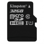Mälukaart 32GB MicroSD Kingston C10 80MB