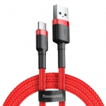 Kaabel USB-C Baseus Cafule 3A 1m punane