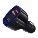 Autolaadija Wozinsky 2xUSB&USB-C QC3.0